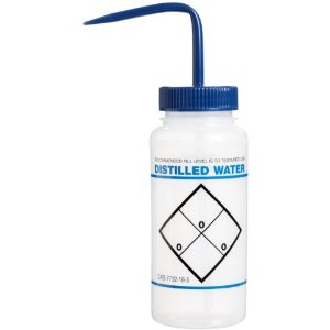 "Bel-Art F11646-0620 ""Distilled Water"" Safety-Labeled Wash Bottle"