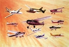 "Gift of Wings 191 Aviation Greeting Cards ""Cessna Montage Christmas Cards"" - 10 Pack"