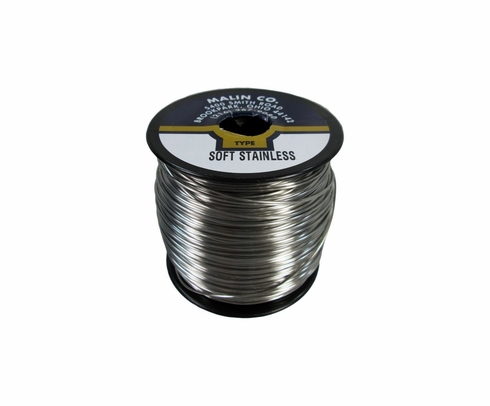 "Malin MS20995C15 Stainless Steel Safety Wire (5 lb. Roll) - 0.015"" Diameter - ASTM A580"