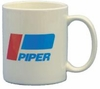 """Piper Logo"" White Ceramic Coffee Mug"