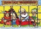 "Gift of Wings 224 Aviation Greeting Cards ""Santas Workshop Christmas Cards"" - 10 Pack"