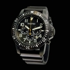 Trintec ZULU-01 Chronograph Aviation Watch - Black PVD Case