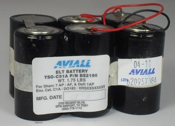 Aviall BS2190 Alkaline ELT Battery - 2 Year
