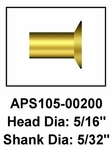 Aviation Products Systems APS105-00200 FAA-PMA Rivet - 25 Pack