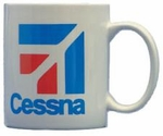 """Cessna Logo"" White Coffee Mug"