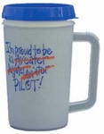 """I Am Proud To Be An Pilot"" Gray Cold Travel Mug"