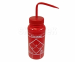 "Bel-Art F11646-0628 ""Toluene"" Safety-Labeled Wash Bottle"
