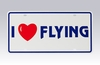 "Degroff Aviation 6009-ILF License Plate ""I (Heart) Flying"""
