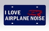 "Degroff Aviation 6009-APN License Plate ""I Love Airplane Noise"""