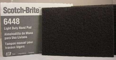3M 048011-16555 Scotch-Brite 6448 Light Duty Hand Pad - 20 Pads/Box