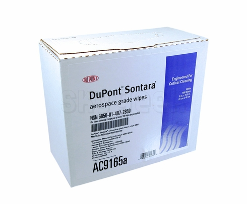 "DuPont AC9165A Sontara Aerospace Grade Wipes - 9"" x 16.5"" - 100 Count - 1 Box"