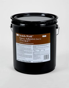 3M 021200-20360 Gray Scotch-Weld 2216 B/A Epoxy Adhesive - 5 Gallon