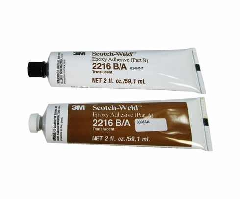 3M 021200-20851 Clear Scotch-Weld 2216 B/A Epoxy Adhesive - 2 oz A+B Tube Kit
