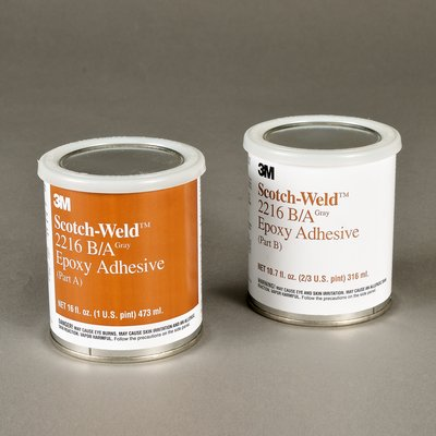 3M 021200-20852 Clear Scotch-Weld 2216 B/A Epoxy Adhesive - A+B Pint Kit