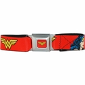 Wonder Woman Red Seatbelt Mesh Belt