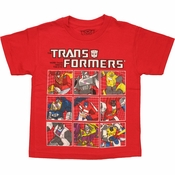 Transformers Group Grid Juvenile T Shirt