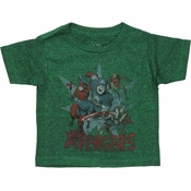 Avengers Faded Group Burst Infant T Shirt