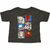 Avengers Trio Split Boxes Infant T Shirt