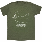 Jaws Chalk Heathered T Shirt Sheer