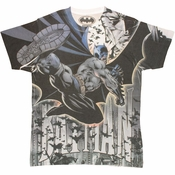 Batman Kick Sublimated T Shirt Sheer