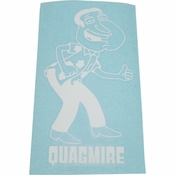 Family Guy Quagmire White Decal