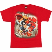 Marvel Hero Squad Trio Youth T Shirt