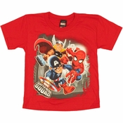 Marvel Hero Squad Trio Juvenile T Shirt