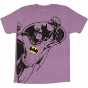 Batman Fist Purple T Shirt Sheer