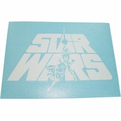 Star Wars Duo Logo White Decal