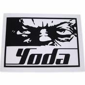 Star Wars Yoda Stare Black Decal