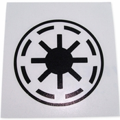 Star Wars Republic Symbol Black Decal