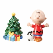 Peanuts Christmas Salt Shaker Set