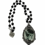 Bride of Frankenstein Portrait Rosary Necklace