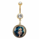 Wonder Woman Portrait Belly Ring