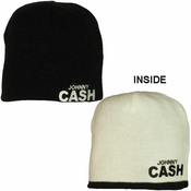 Johnny Cash Reversible Beanie