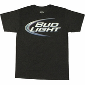 Bud Light Logo T Shirt Sheer