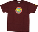 Wonder Woman Shield Logo T Shirt