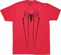 Amazing Spiderman Logo Red T Shirt Sheer