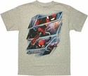 Amazing Spiderman Panel Action T Shirt