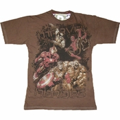 Marvel Heroes T-Shirt Sheer