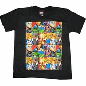 Marvel Hero Squad Boxes Juvenile T Shirt