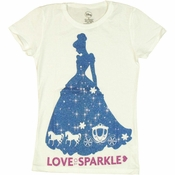 Cinderella Love to Sparkle Youth Girls T Shirt