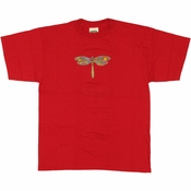Grateful Dead Dragonfly Red Youth T Shirt