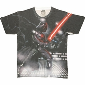 Star Wars Vader Battle Sublimated T Shirt Sheer