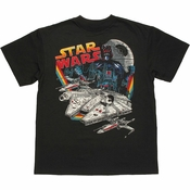 Star Wars Vader Ships Youth T Shirt