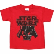 Star Wars Vader Helmet Toddler T Shirt