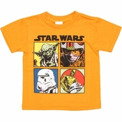 Star Wars Four Boxes Toddler T Shirt
