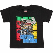 Avengers Color Names Toddler T Shirt
