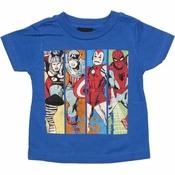 Avengers Vintage Panels Infant T Shirt