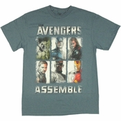 Avengers Movie Sketches T Shirt